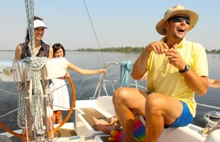 Leisure. River boat trip (Dnipro, 2014)