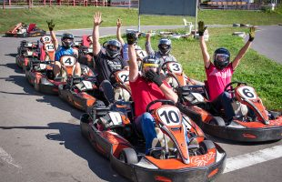 Active leisure in the company. Karting (2017)
