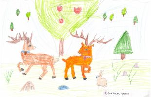 """Children's drawing competition """"Winter's Tale"""" (2016)"""
