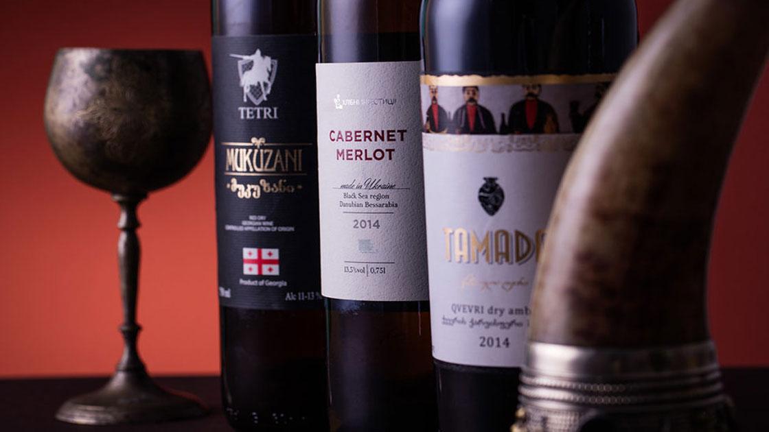 печать этикетки для вина